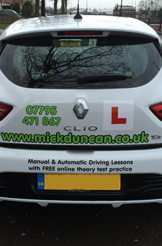 Driving Lessons in Newcastle upon Tyne in Mick Duncans tuition vehicle