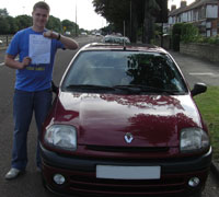 David Rowland with Pass Certificate